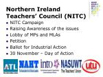 northern ireland teachers council nitc