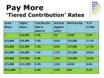 pay more tiered contribution rates