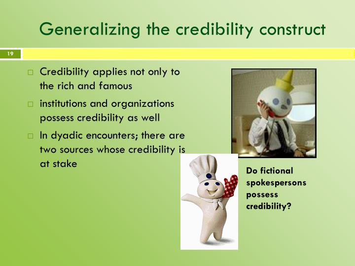 Generalizing the credibility construct