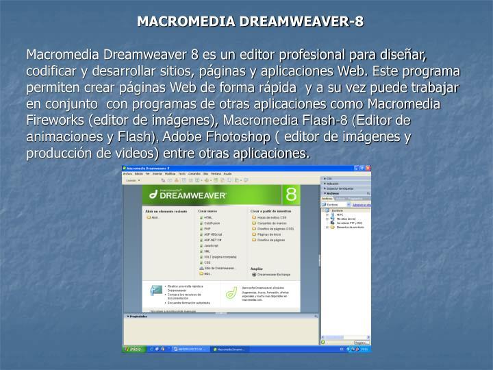 MACROMEDIA DREAMWEAVER-8