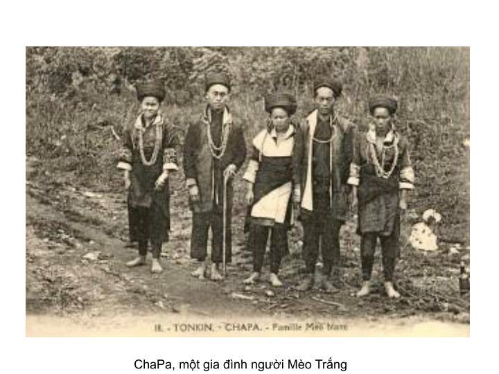ChaPa, một gia đình người Mèo Trắng