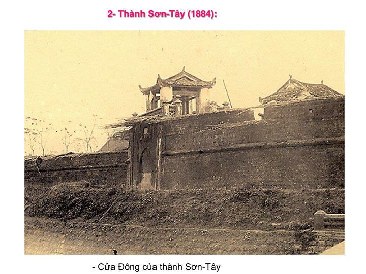 2- Thành Sơn-Tây (1884):