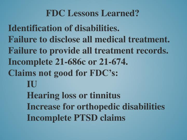 FDC Lessons Learned?