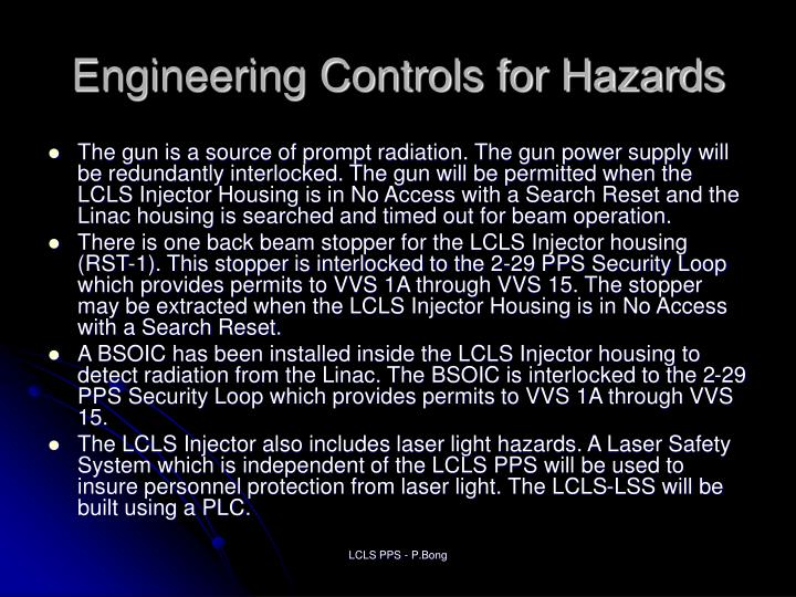Engineering Controls for Hazards