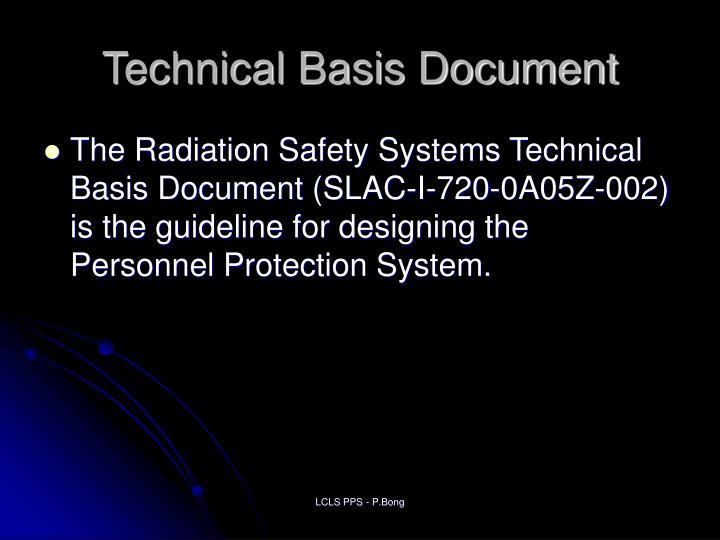 Technical Basis Document