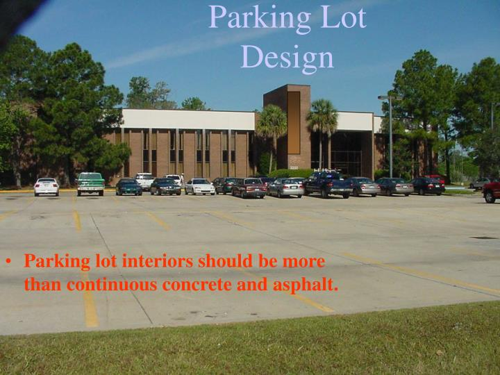 Parking Lot Design