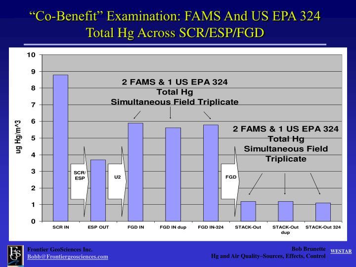 """Co-Benefit"" Examination: FAMS And US EPA 324"