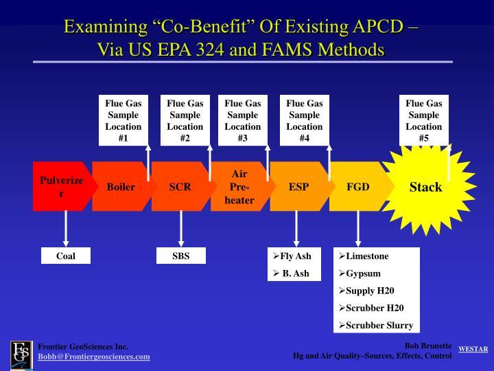 "Examining ""Co-Benefit"" Of Existing APCD –"