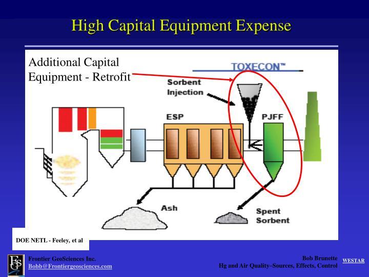 High Capital Equipment Expense