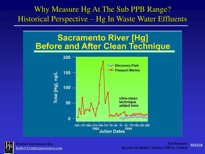 Why Measure Hg At The Sub PPB Range?