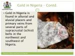 gold in nigeria contd