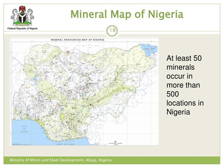 Mineral Map of Nigeria
