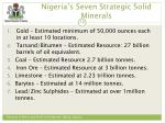 nigeria s seven strategic solid minerals