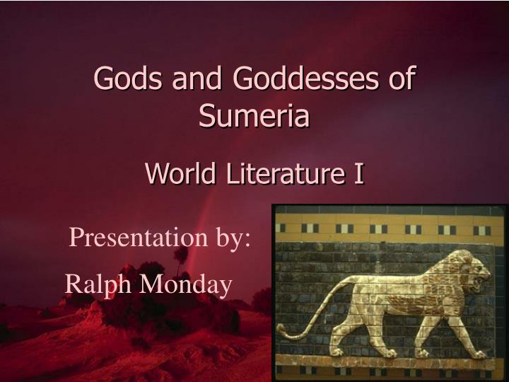 Gods and goddesses of sumeria