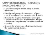 chapter objectives students should be able to