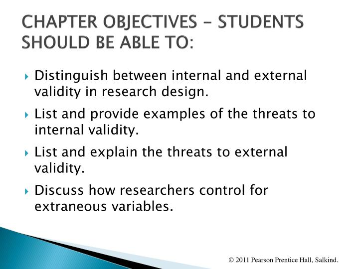Chapter objectives students should be able to1