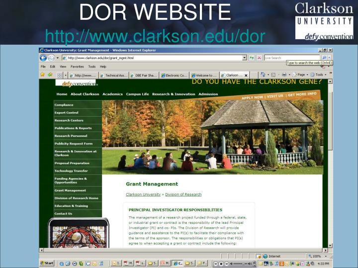 DOR WEBSITE