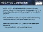 mbe wbe certification