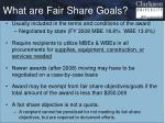 what are fair share goals1
