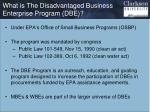 what is the disadvantaged business enterprise program dbe