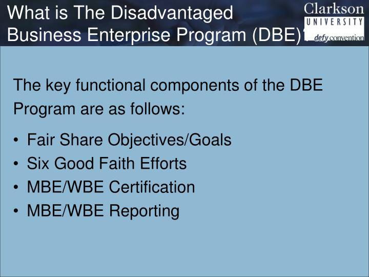 What is The Disadvantaged Business Enterprise Program (DBE)?