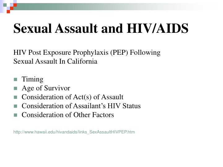 Sexual Assault and HIV/AIDS