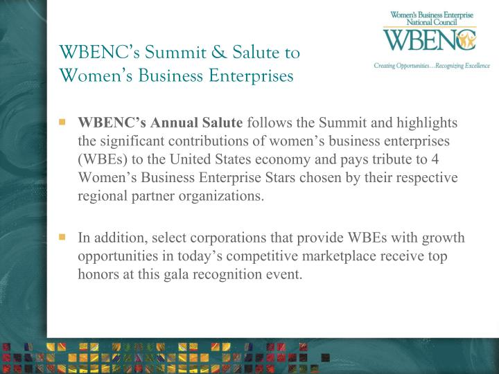 WBENC's Summit & Salute to Women's Business Enterprises