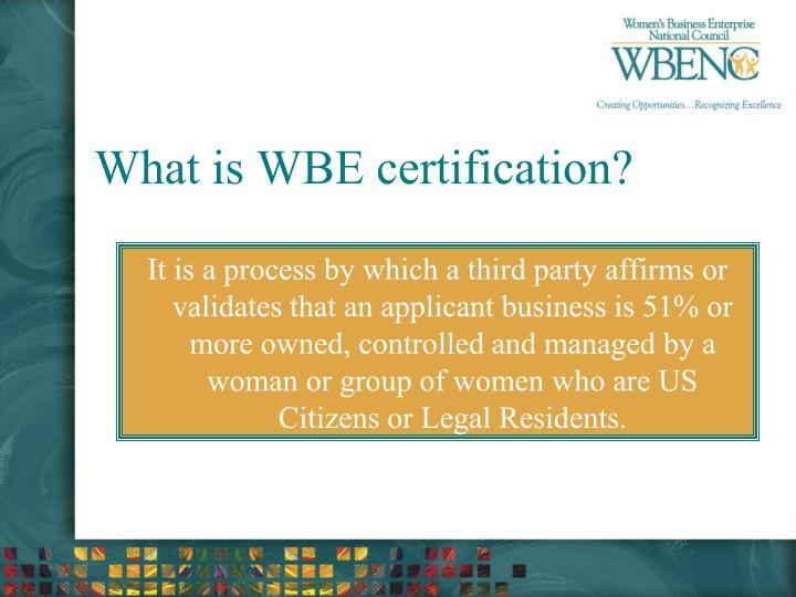 What is WBE certification?