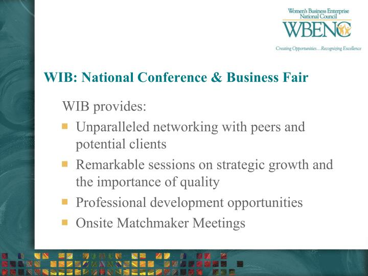 WIB: National Conference & Business Fair