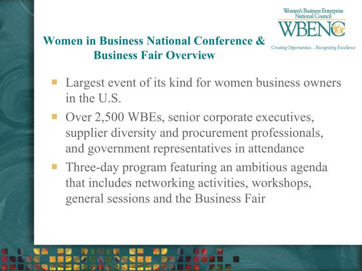 Women in Business National Conference & Business Fair Overview