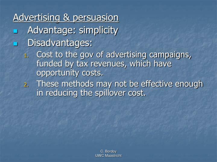 Advertising & persuasion