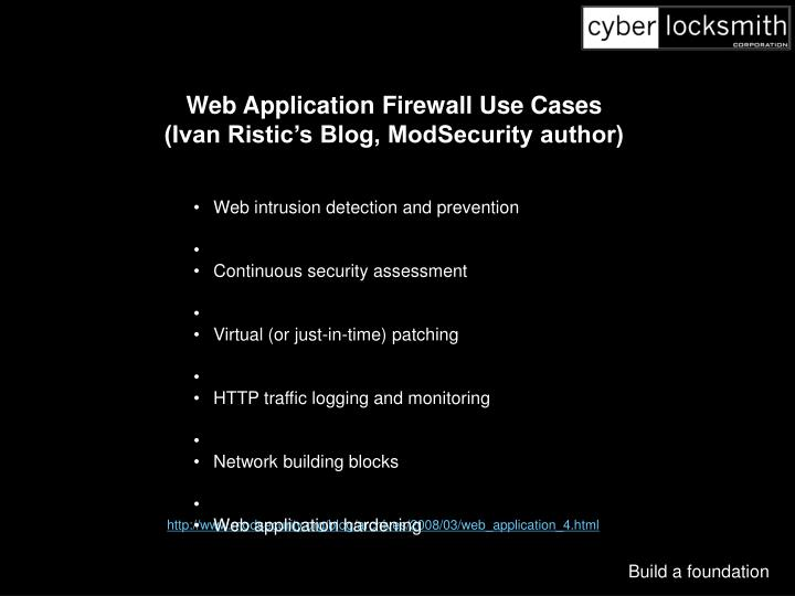Web Application Firewall Use Cases