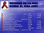 informe de la onu sobre el sida 20041