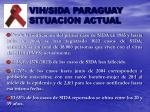 vih sida paraguay situacion actual