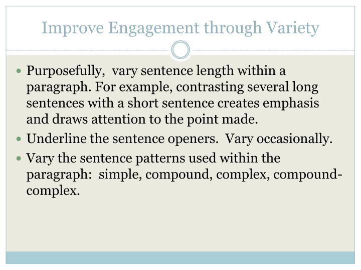 Improve Engagement through Variety