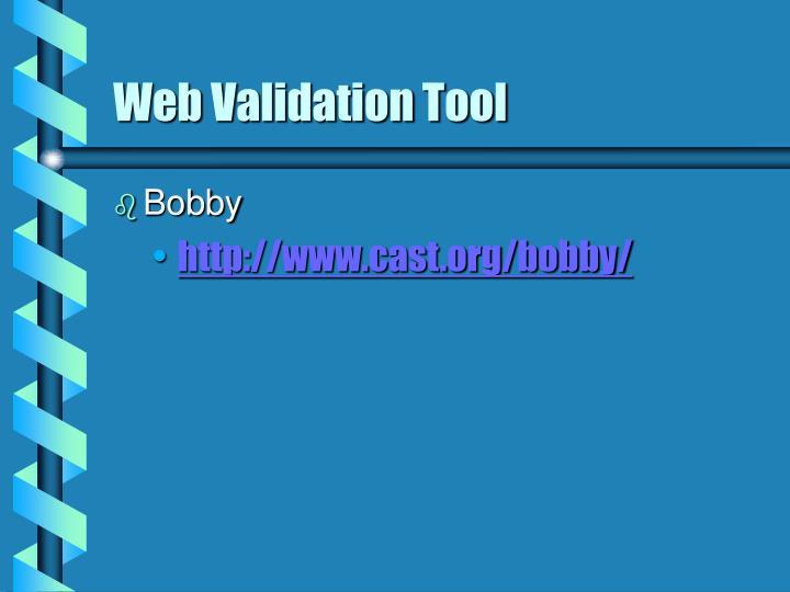 Web Validation Tool