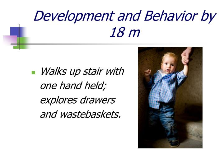 Development and Behavior by 18 m