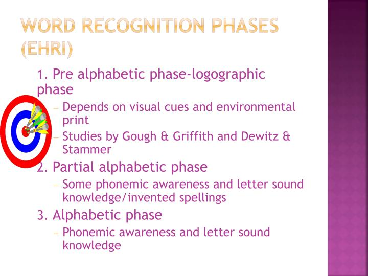Word Recognition Phases