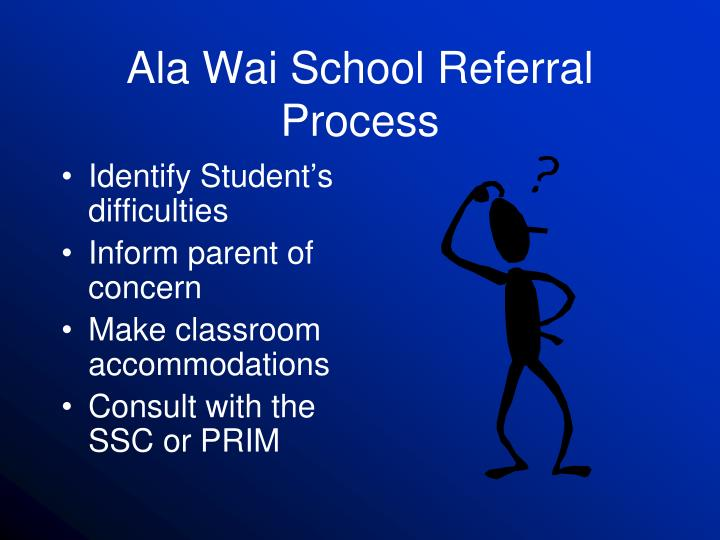 ala wai school referral process