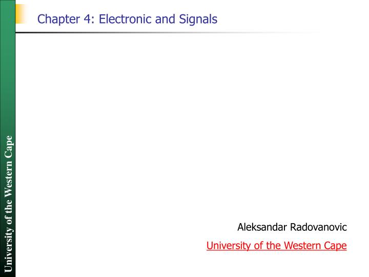 chapter 4 electronic and signals