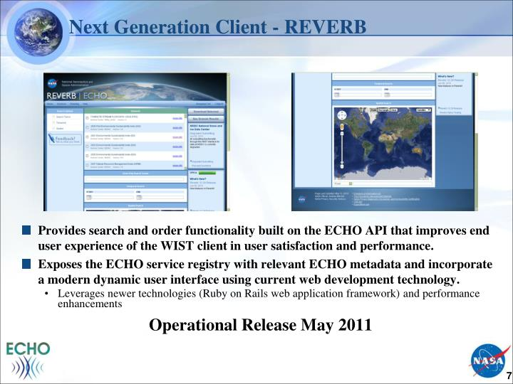 Next Generation Client - REVERB