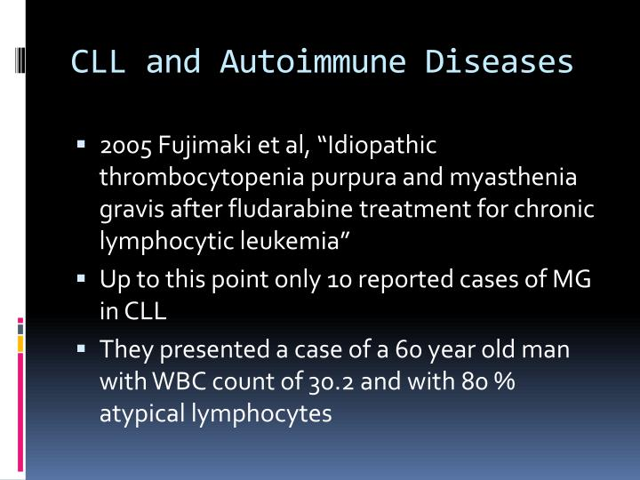CLL and Autoimmune Diseases