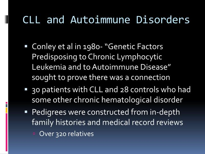 CLL and Autoimmune Disorders