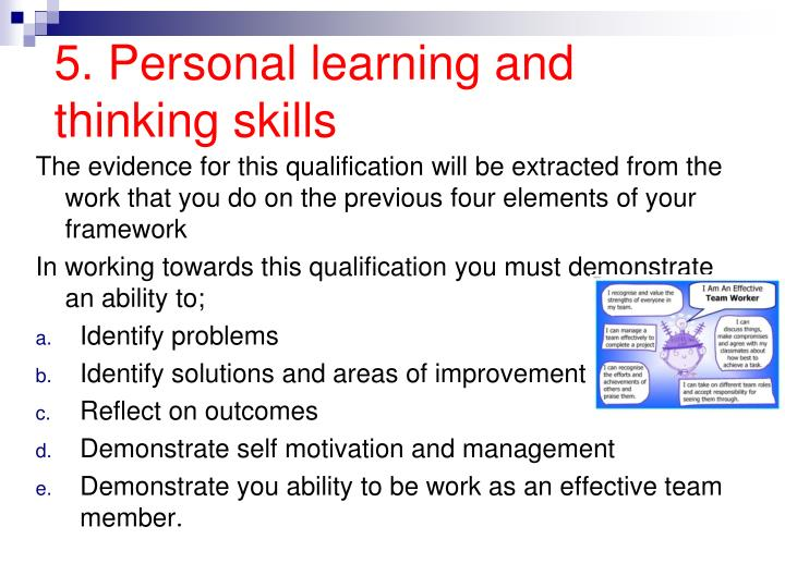 5. Personal learning and thinking skills