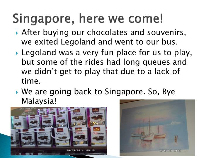 Singapore, here we come!