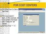 for cost centers4