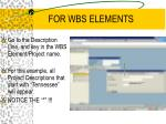 for wbs elements7