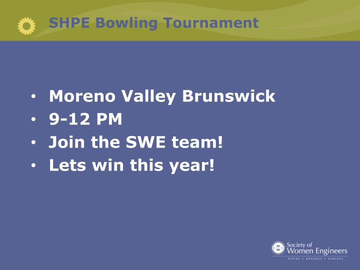 SHPE Bowling Tournament