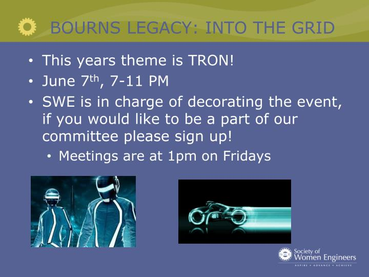 BOURNS LEGACY: INTO THE GRID