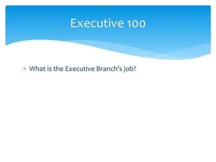Executive 100